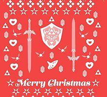 Zelda Christmas Card Jumper Pattern by Alice Edwards