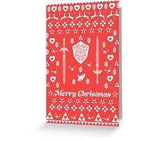 Zelda Christmas Card Jumper Pattern Greeting Card