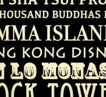 Hong Kong Famous Landmarks Sticker