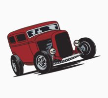 32 Red Ford Sedan Kids Clothes