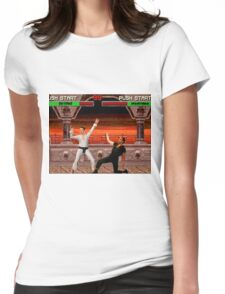 DAYMAN VS NIGHTMAN Womens Fitted T-Shirt