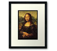 Low-Poly Mona Lisa Framed Print