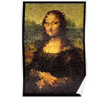 Low-Poly Mona Lisa Poster