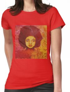 Stained-glass woman Womens Fitted T-Shirt