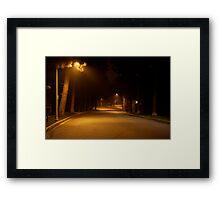 Late night, Beverley Hills, CA Framed Print