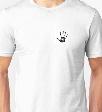 Handprint Skyrim Dark Brotherhood Black and White Unisex T-Shirt