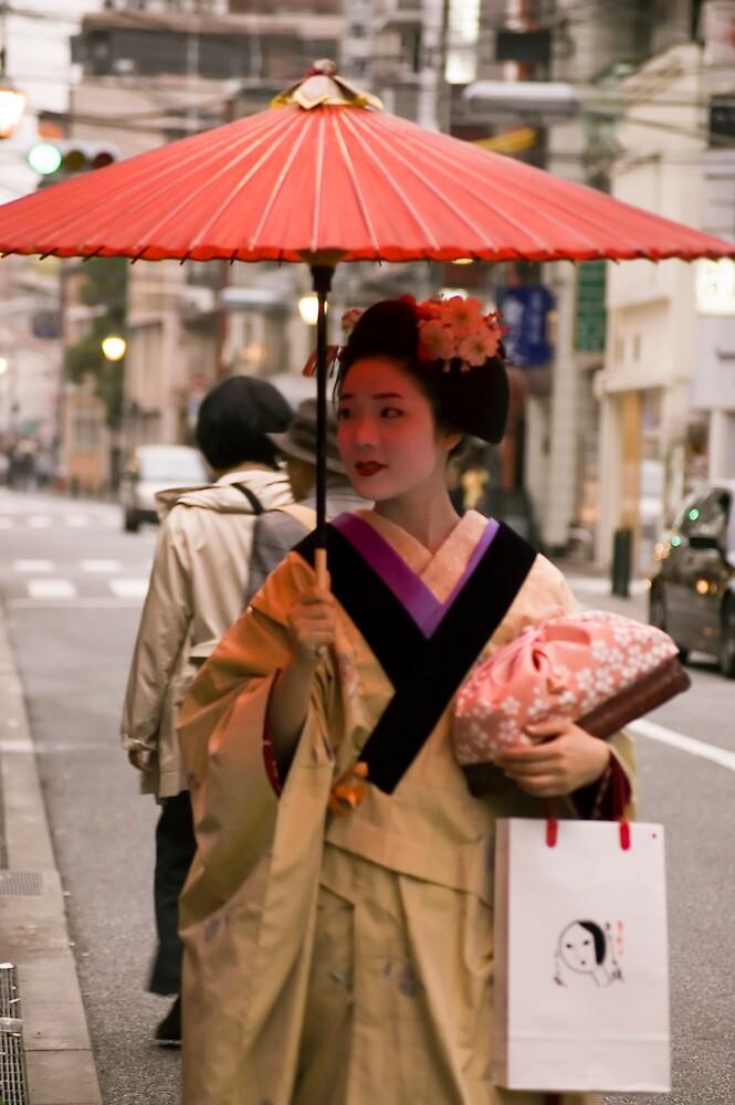 Geisha in the Rain by fab2can