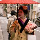 Geisha in the Rain by fab2can