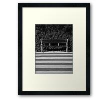 The Empty Bench Framed Print