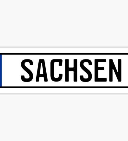Sachsen Kennzeichen Sticker