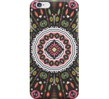 Ornamental round aztec geometric pattern iPhone Case/Skin