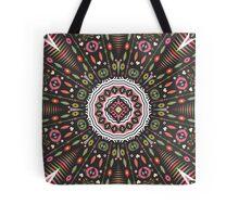 Ornamental round aztec geometric pattern Tote Bag