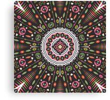 Ornamental round aztec geometric pattern Canvas Print