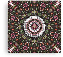Ornamental round aztec geometric pattern Canvas Print