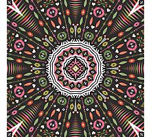 Ornamental round aztec geometric pattern Photographic Print