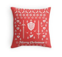 Zelda Christmas Card Jumper Pattern Throw Pillow
