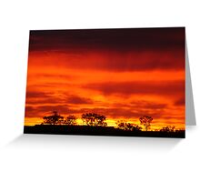 Firey Sunrise, Batton Hill, North Simpson Desert Greeting Card
