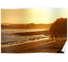 Strolling Torquay Surf Beach,Great Ocean Road Poster
