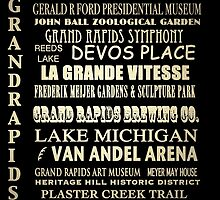 Grand Rapids Michigan Famous Landmarks by Patricia Lintner