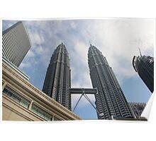 Steel Twins II - Kuala Lumpur, Malaysia. Poster