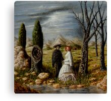 Apparition in a Landscape Canvas Print