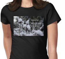 my garden is dead, snow Womens Fitted T-Shirt