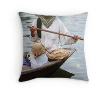 Vietnamese rower Throw Pillow