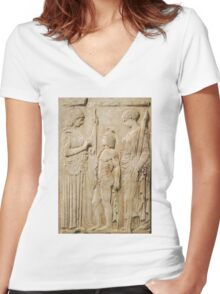 Persephone and Demeter - goddess of agricultural abundance Women's Fitted V-Neck T-Shirt