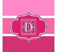 Letter D Shades of Pink Monogrammed  Photographic Print