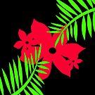 Big Red Bloom by Julie  Everhart by Julie Everhart