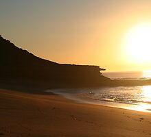 Sunrise at Bells Beach by Vanessa Semmens
