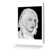 the beaded shawl Greeting Card