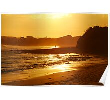 Sunset, Torquay Surf Beach,Great Ocean Road Poster