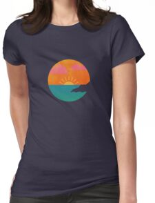 As the sun sets over the ocean Womens Fitted T-Shirt