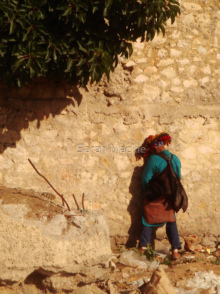 Taking a leak, Meknes by Sarah Mackie