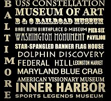 Baltimore Maryland Famous Landmarks by Patricia Lintner