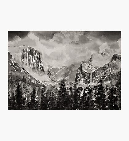 Yosemite Park in Winter Photographic Print
