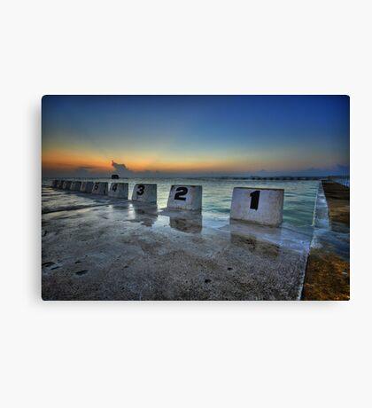 Merewether Ocean Baths at Dawn 1 Canvas Print