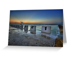 Merewether Ocean Baths at Dawn 1 Greeting Card