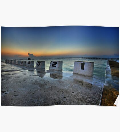 Merewether Ocean Baths at Dawn 1 Poster