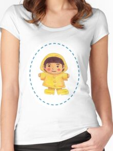 The Girl in the Rainy Season Women's Fitted Scoop T-Shirt