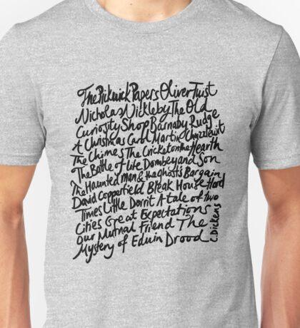 Charles Dickens Novels Unisex T-Shirt