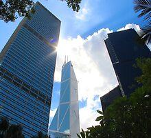 HK Central Buildings - Hong Kong.  by Tiffany Lenoir