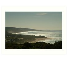 Harsh Light Anglesea,Great Ocean Road Art Print