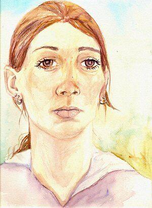 Self Portrait (watercolour) by Paula Stirland