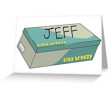 Jeff the Ghost Greeting Card