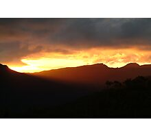 Blazing Sunset Grampians Photographic Print