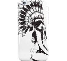 Sexy indian Pinup girl iPhone Case/Skin