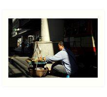 street salesman Art Print