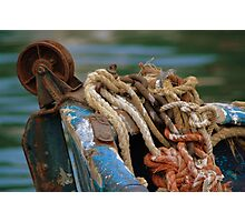 Rust Ropes and Ruggedness Photographic Print